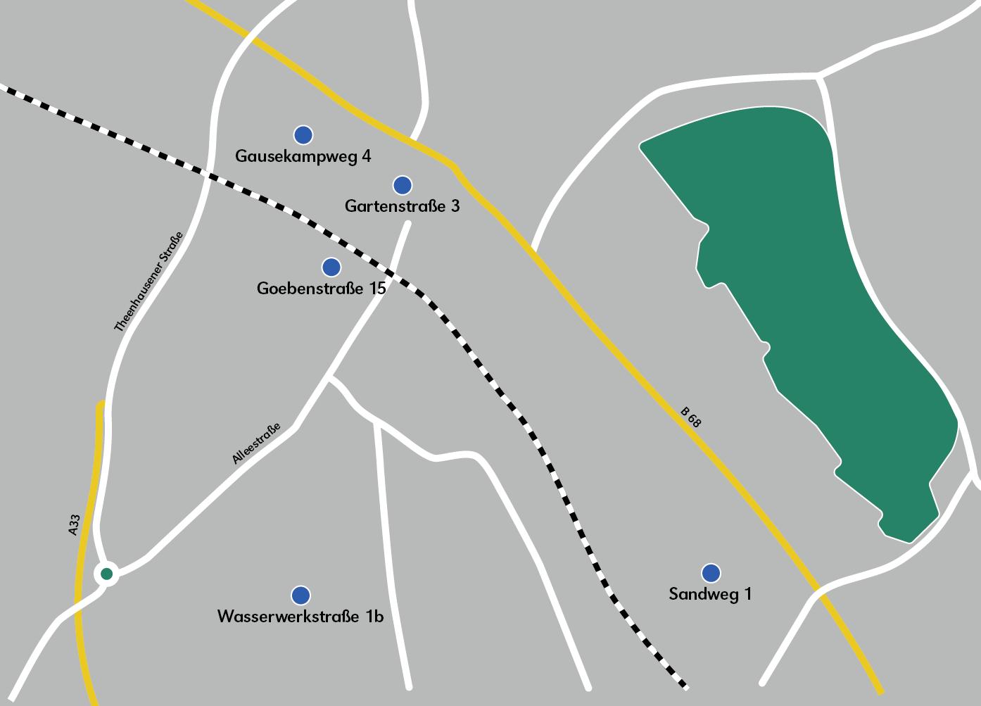 Karte Maps mit Ladesäulen Punkte