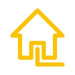 TWO Umweltprogramm Icon Haus mit Erdgas