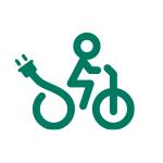 TWO Umweltprogramm Icon Fahrradfahrer