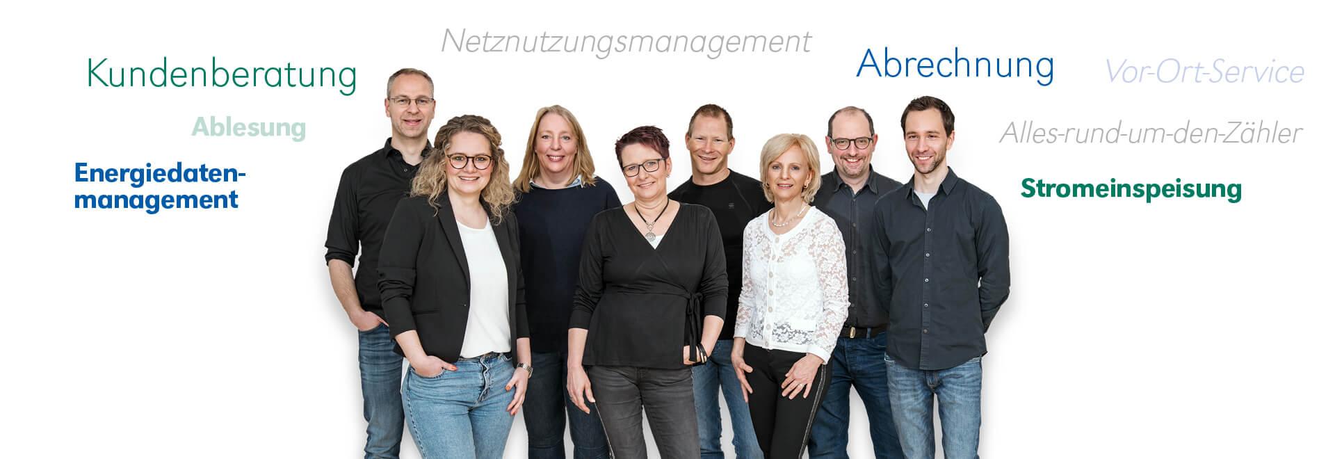 TWO Team Kundenservice mit Wortwolken